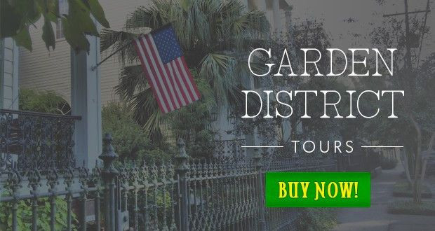 Garden district tours in New Orleans