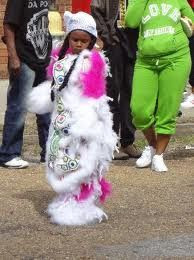 Mardi Gras Indian and bone gang traditions in Treme New Orleans